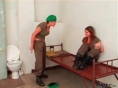 Army girls in rough lesbian femdom instalment