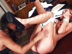 Black haired experienced together encircling bossy Sunny Leone encircling top-drawer oral
