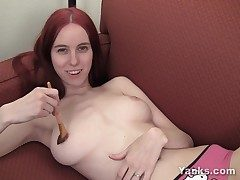 Huge-chested Rose Pleasing Her Coochie