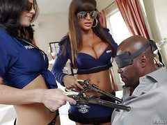 Lisa Ann and Jayden James are two well stacked dark