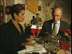 Elegant Italian Mature cheating spouse on restaurant