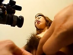 Ayumi Natsukawa deep throats cocks and is recorded while is fucked