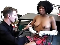Black college girl gets lured by her nasty milky teacher.
