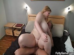 Hard bang-out with fatty after massage