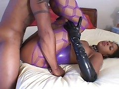 X-rated latex on a malignant cooky doing hot aggravation charge from